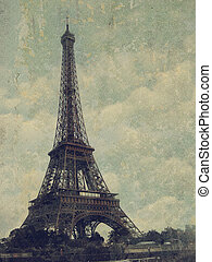 Paris - Vintage images of Eiffel Tower