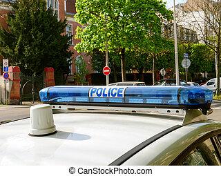 Paris Police siren rooftop