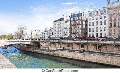 paris., remblai, de, les, rivière seine