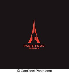 Paris restaurant logo design template