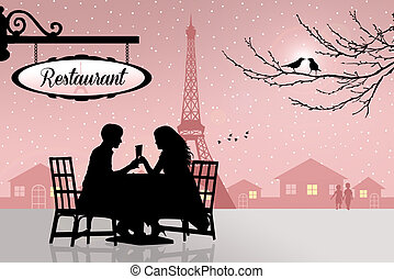 Paris, restaurante
