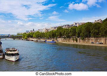 paris, rivière seine, france