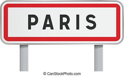 Paris road sign