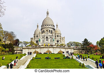 paris. sacre coeur in montmartre - the sacre coeur in...