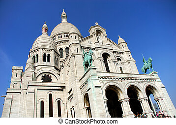 Paris, Sacre coeur (sacred heart) - Paris, cathedral sacre...