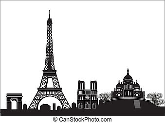 paris, skyline