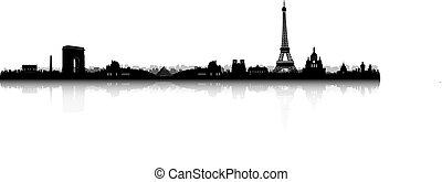 Paris Skyline Silhouette