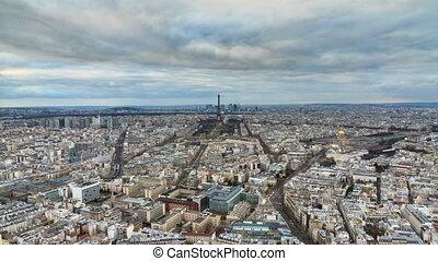 Paris skyline timelapse
