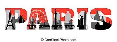 Paris skyline vector 16