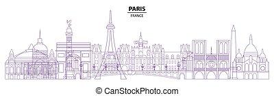 Paris skyline vector 18