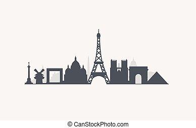 Paris skyline Clip Art Vector Graphics. 2,213 Paris ...