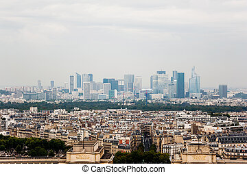paris, skyline, verteidigung, la