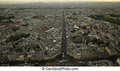 Paris skyline view
