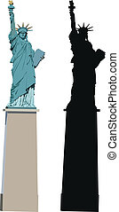 paris, statue, freiheit