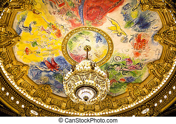 Paris - PARIS, August 4, 2014: Interior view of the Opera...