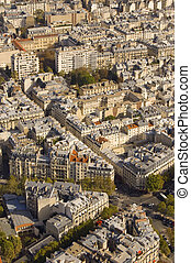 Paris streets  from above