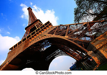 Paris, torre,  eiffel, França