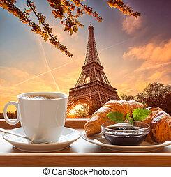 paris, tour, eiffel, café