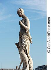 Paris - Tuileries garden - Antique sculpture in Jardin des...