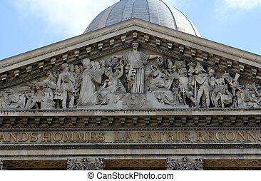paris, tympanon, -, panteão