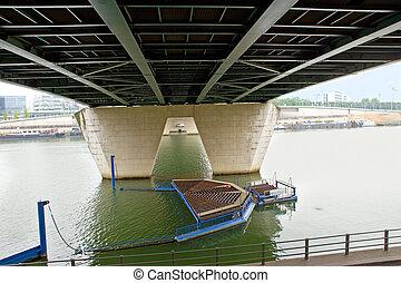 Paris. Under bridge.