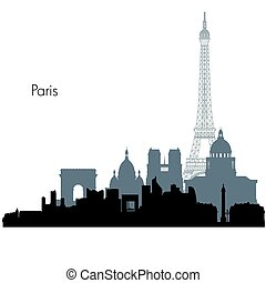 Paris vector skyline