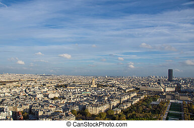 Paris, view of the city from the Eiffel Tower