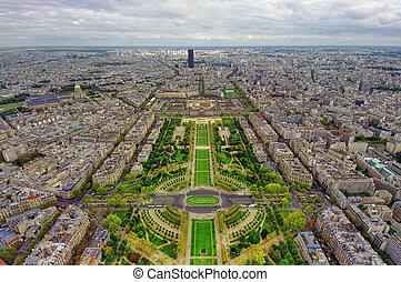 paris, ville, au-dessus, vu