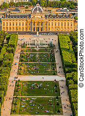 paris, ville, ecole militaire, france