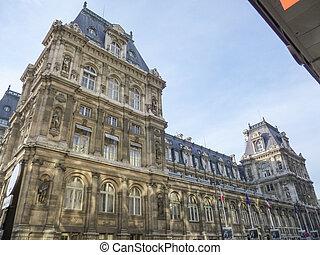 paris, ville, hôtel, de