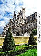 paris, ville, hotel, de