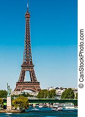 paris, ville, tour, eiffel, france