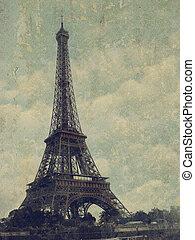 Paris - Vintage images of Eiffel Tower