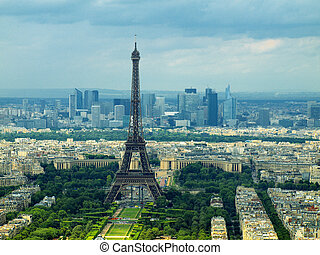 paris, vista, de, montparnasse, tower., frança