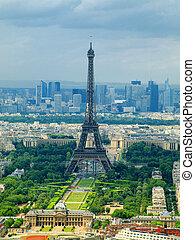 paris, vista, de, montparnasse, tower., frança
