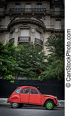 paris, voiture d'époque