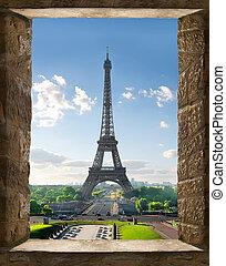 paris, vue fenêtre