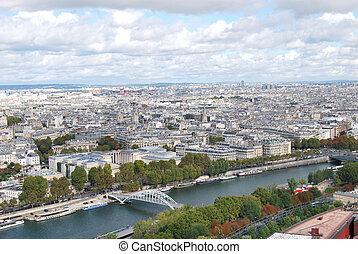 paris, vue panoramique, -, france