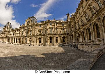 paris, vue panoramique, louvre