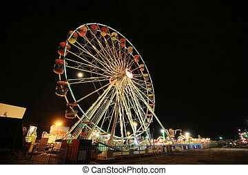 pariserhjul, hos, nöjesfält