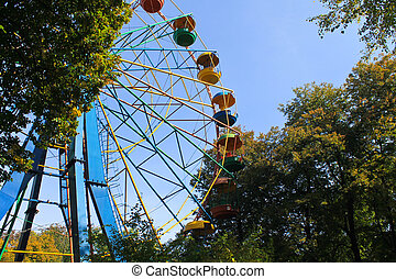 pariserhjul, i park
