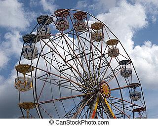 pariserhjul, in, en, nöjesfält