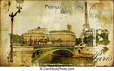 Paris,France - Vintage Photoalbum Series