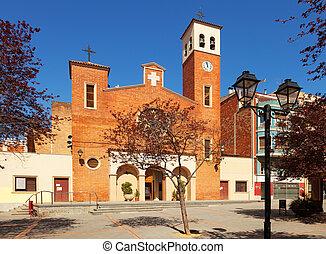 Parish Church of Sant Adria. Spain - Facade of the Parish...