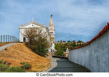 Parish Church of St. George in Piran in Slovenia.