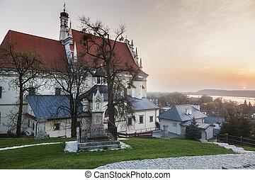 Parish Church of St. John the Baptist in Kazimierz Dolny. Kazimierz Dolny, Lubelskie, Poland.