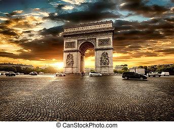 Parisian Arc de Triomphe