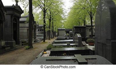 Parisian cemetery.  - Montparnasse cemetery, Paris, France.