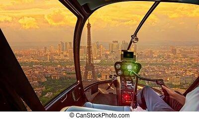 Parisian Helicopter flight
