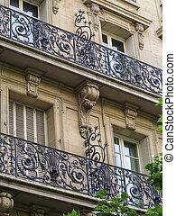 Parisian Ironwork - Wrought iron railings and burglary...